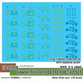 DD35008 WWII US Ammunition Box lettter decal set