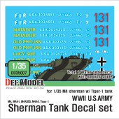 DD35007 WWII US M4 tank  decal set