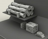 LF3D006 TOW Missile Rack set