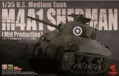 TSK35-010 1/35 U.S. Medium Tank M4A1 Sherman (Mid Production)