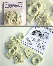 LW 35202 VW Kubelwagen Typ 157 RAILROAD WHEELS SET
