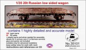LZ35101 Russian 20t open railcar