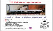 LZ35103 Russian 60t low sided railcar