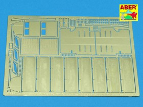 35 A011 Fenders and exhaust covers for Tiger I (for early model in Africa)