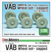 DW35069 French VAB Sagged Wheel set 2-Uniroyal ( for Heller 1/35 6 wheel included)