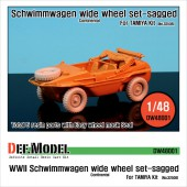 DW48001 WW2 Schwimmwagen Wide Wheel set (for Tamiya 1/48)