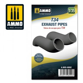 AMIG8092 T34 Exhaust Pipes