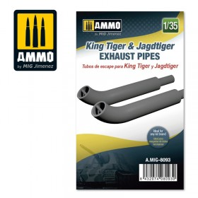 AMIG8093 King Tiger & Jadtiger Exhaust Pipes
