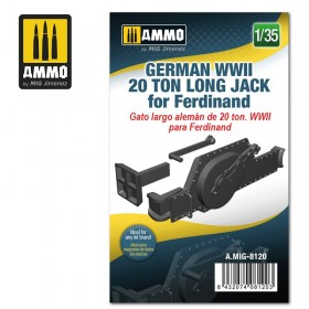 AMIG8120 German WWII 20 ton Long Jack for Ferdinand