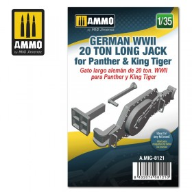 AMIG8121 German WWII 20 ton Long Jack for Panther & King Tiger