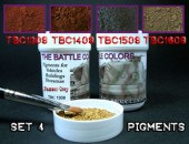 ТВС4  4 pots of pigments THE BATTLE COLORS with thinner Set 4