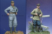 35014 WW2 Russian Tank Crew Set 1943-45 / 2 Figures and 4 Heads