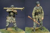 35022 GErman Para Anti-Tank Team / 2 Figures and 4 Heads